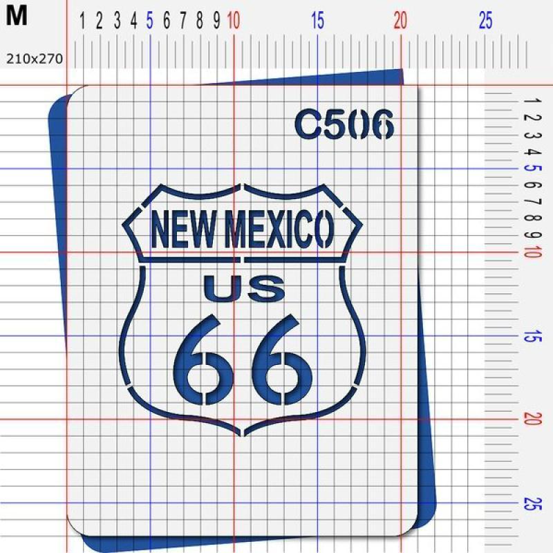 Pochoir route 66 Nouveau mexique - 4 tailles au choix - Photo n°4