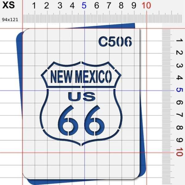 Pochoir route 66 Nouveau mexique - 4 tailles au choix - Photo n°2