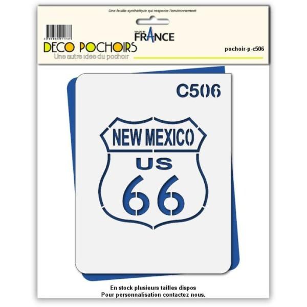 Pochoir route 66 Nouveau mexique - 4 tailles au choix - Photo n°1