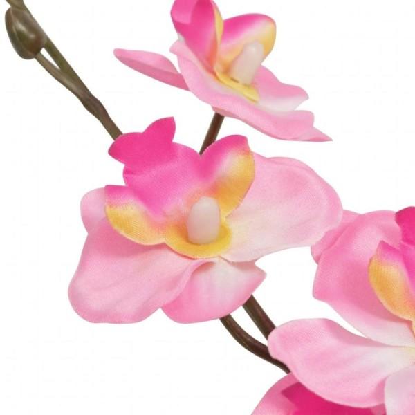 Vidaxl Plante Artificielle Avec Pot Orchidée 30 Cm Rose - Photo n°2