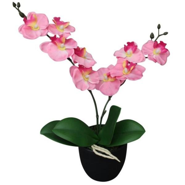 Vidaxl Plante Artificielle Avec Pot Orchidée 30 Cm Rose - Photo n°1
