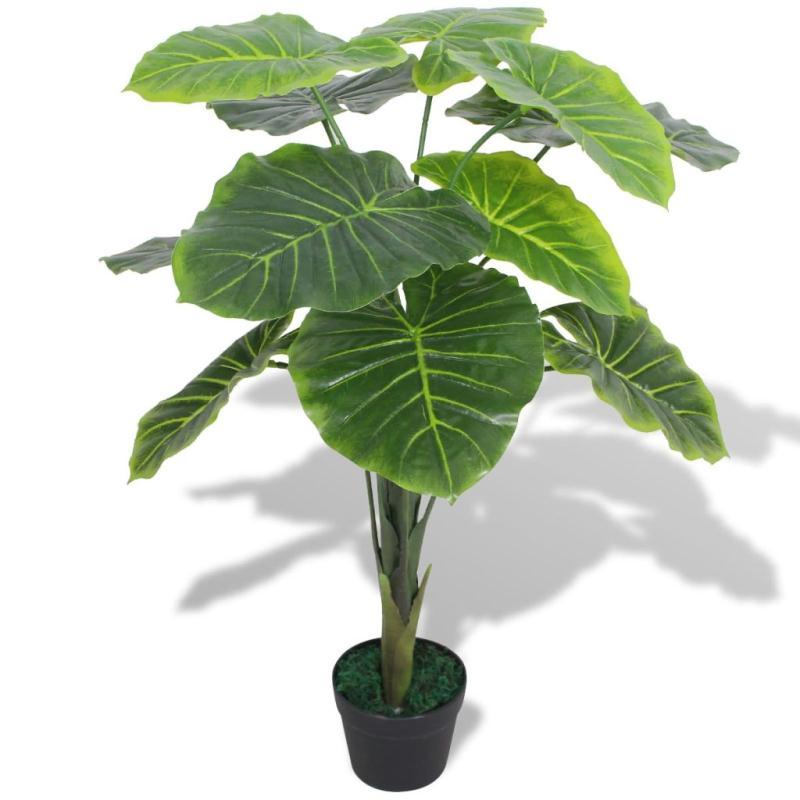 Vidaxl plante artificielle avec pot taro 70 cm vert for Asperge plante interieur