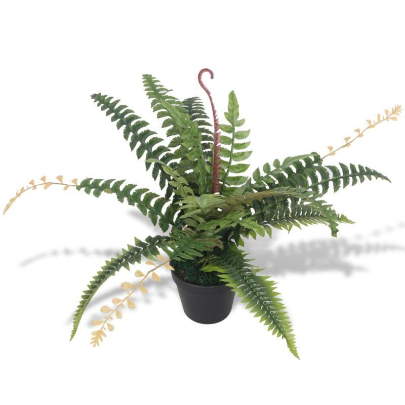 Vidaxl plante artificielle avec pot foug re 50 cm vert - Plante artificielle pour exterieur ...