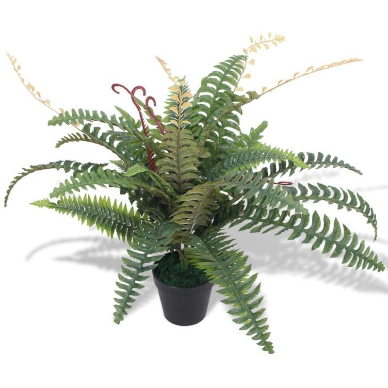 Vidaxl plante artificielle avec pot foug re 60 cm vert - Plante artificielle pour exterieur ...