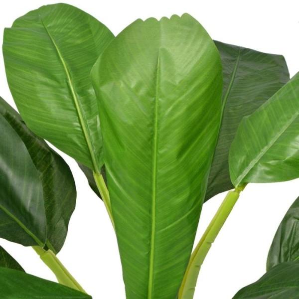 Vidaxl Bananier Artificiel Avec Pot 150 Cm Vert - Photo n°2