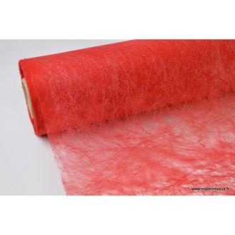 Non tissé nacré paillettes déco rouge 160 .x 1m
