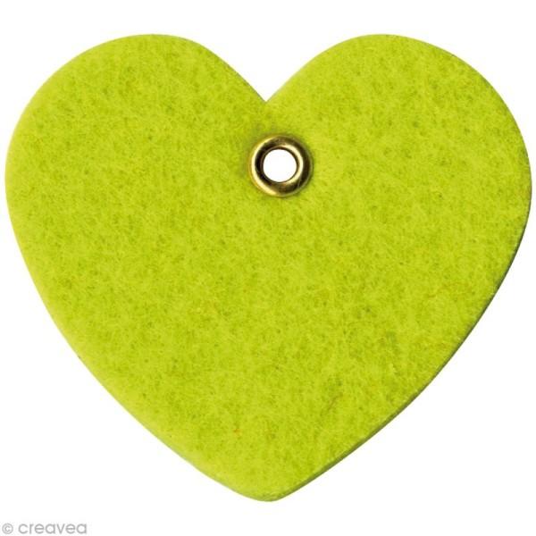 coeur en feutrine 6 cm vert anis x8 formes en feutrine. Black Bedroom Furniture Sets. Home Design Ideas