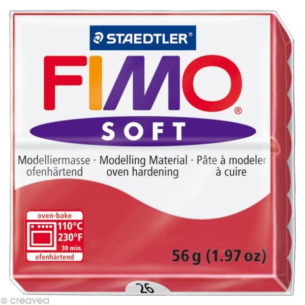 Pâte Fimo soft Rouge Cerise 26 - 56 gr - Photo n°1