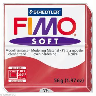 Fimo soft Rouge Cerise 26 - 56 gr