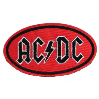 Ecusson brodé AC/DC patch thermocollant hard rock music 9,4 cm