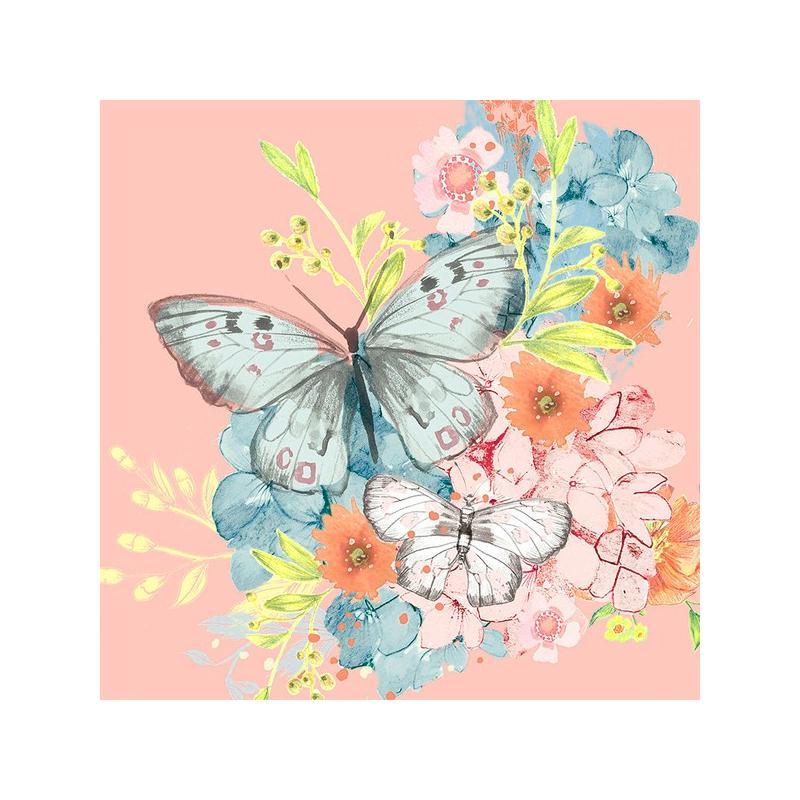 4 serviettes en papier d coupage collage 33 cm papillon serviette en papier animaux creavea. Black Bedroom Furniture Sets. Home Design Ideas