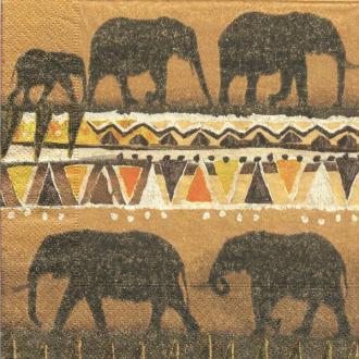4 serviettes en papier découpage collage 33 cm ELEPHANT AFRIQUE
