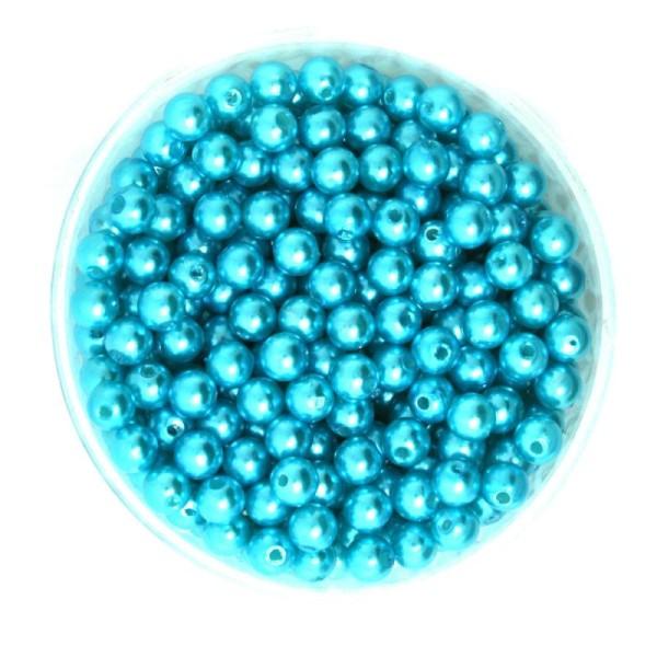 Collier Bracelet Lot 50 Perle imitation 6mm Turquoise Pour vos creation Bijoux