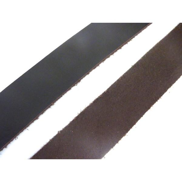 1m Lanière Cuir Largeur 24,5mm De Couleur Marron Foncé - Photo n°1