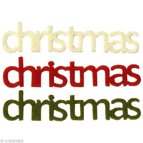 Lettres Christmas en feutrine Classique x6 - Photo n°1