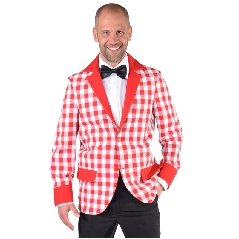 d guisement veste damier rouge blanc homme luxe costumes homme creavea. Black Bedroom Furniture Sets. Home Design Ideas