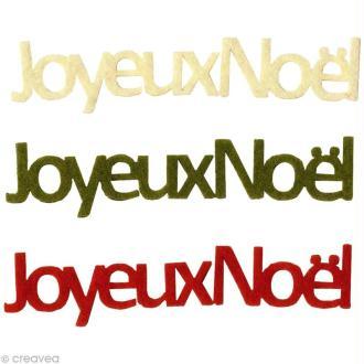Lettres Joyeux Noël en feutrine Classique x6