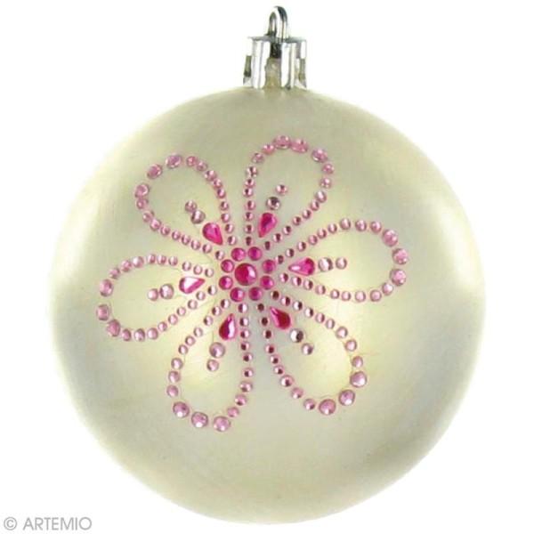 Boule de Noël à décorer x 39   Boule plastique opaque   Creavea