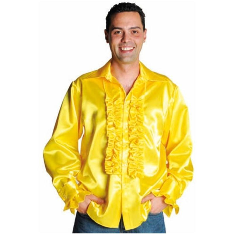 d guisement chemise disco jaune homme luxe costumes homme creavea. Black Bedroom Furniture Sets. Home Design Ideas