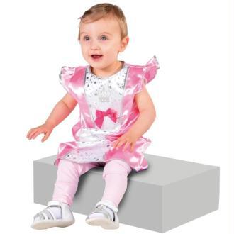 Déguisement princesse bébé rose luxe