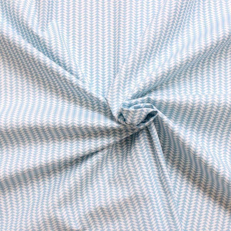 tissus motifs g om triques bleu et blanc tissu coton creavea. Black Bedroom Furniture Sets. Home Design Ideas