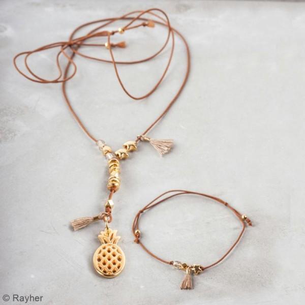 Kit bijou Collier et bracelet Vaia Rayher - Ananas - Photo n°2