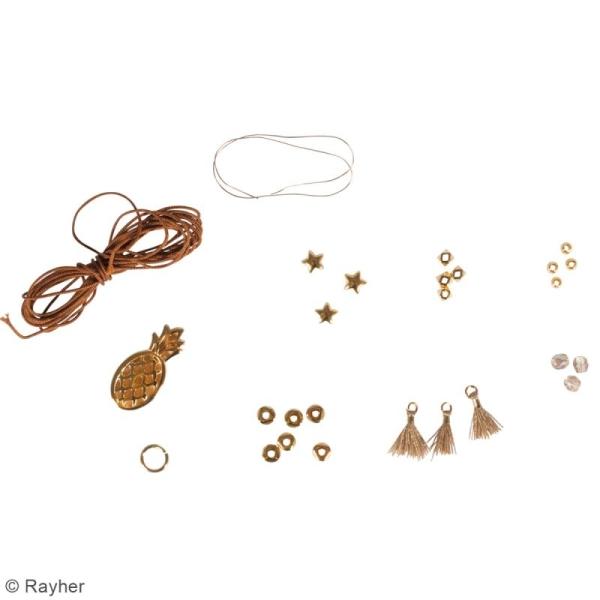Kit bijou Collier et bracelet Vaia Rayher - Ananas - Photo n°4