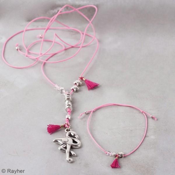 Kit bijou Collier et bracelet Vaia Rayher - Flamant rose - Photo n°2