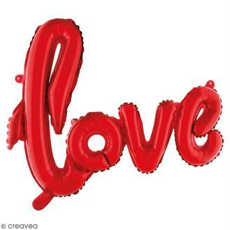 Ballon écriture Aluminium - Love - Rouge - 1 pce