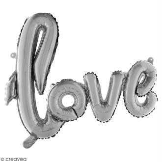 Ballon écriture Aluminium - Love - Argenté - 1 pce