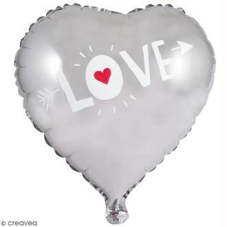 Ballon Aluminium - Coeur - Argenté - 1 pce