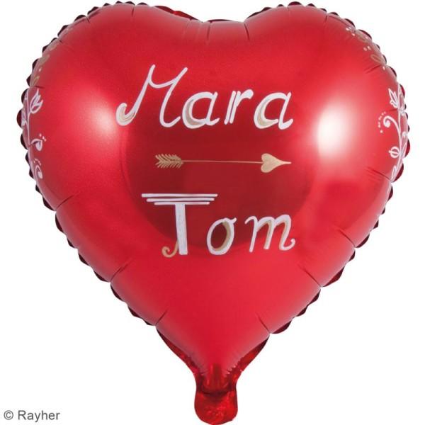 Ballon Aluminium - Coeur - Rouge - 1 pce - Photo n°2