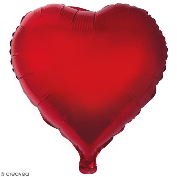 Ballon Aluminium - Coeur - Rouge - 1 pce - Photo n°1