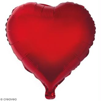 Ballon Aluminium - Coeur - Rouge - 1 pce