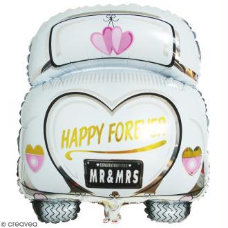Ballon Aluminium - Voiture des mariés - 1 pce