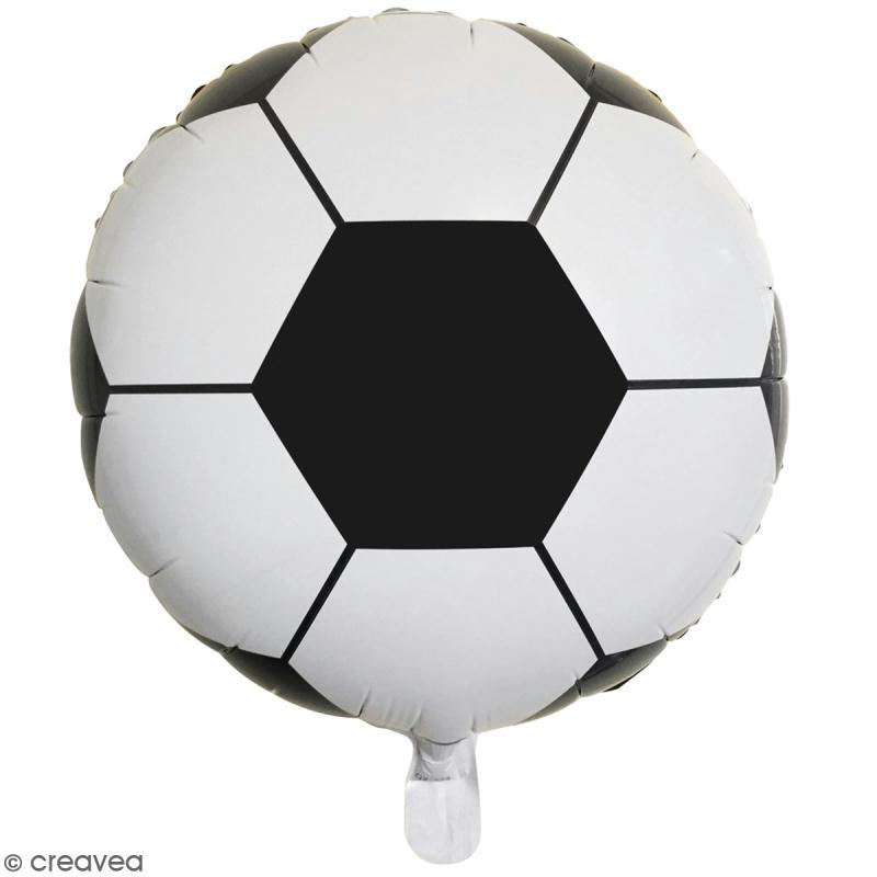 ballon rond aluminium ballon de foot noir et blanc 1 pce ballon aluminium creavea. Black Bedroom Furniture Sets. Home Design Ideas