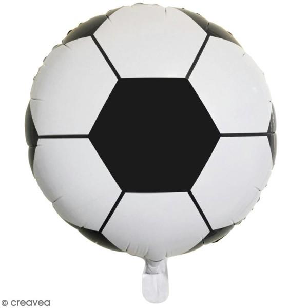 Ballon Rond Aluminium Ballon De Foot Noir Et Blanc 1 Pce