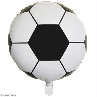 Ballon rond aluminium - Ballon de foot - Noir et blanc - 1 pce