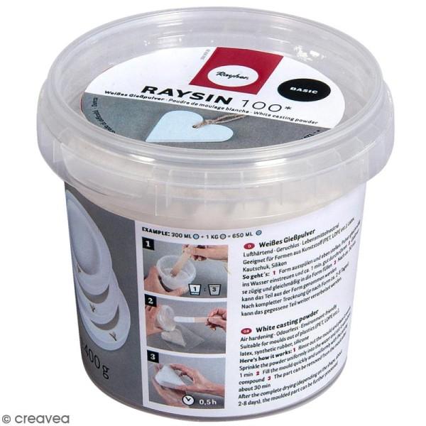 Poudre de moulage Raysin 100 Basic - Blanc - 400 g - Photo n°1