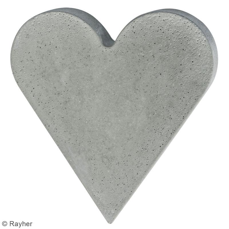 Moule pour béton créatif - Coeur - 18,5 x 20 cm - Photo n°2