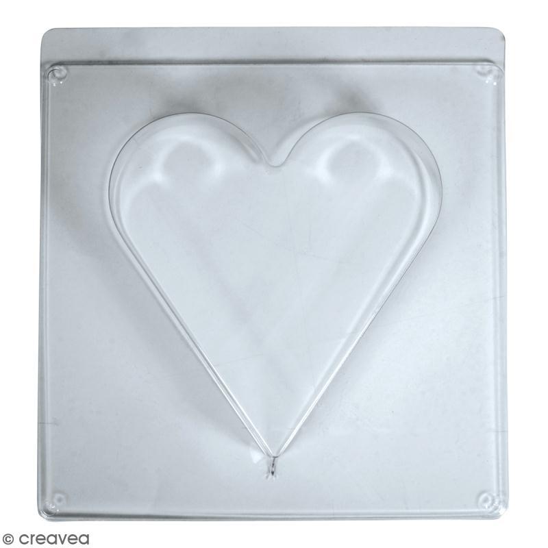 Moule pour béton créatif - Coeur - 18,5 x 20 cm - Photo n°1