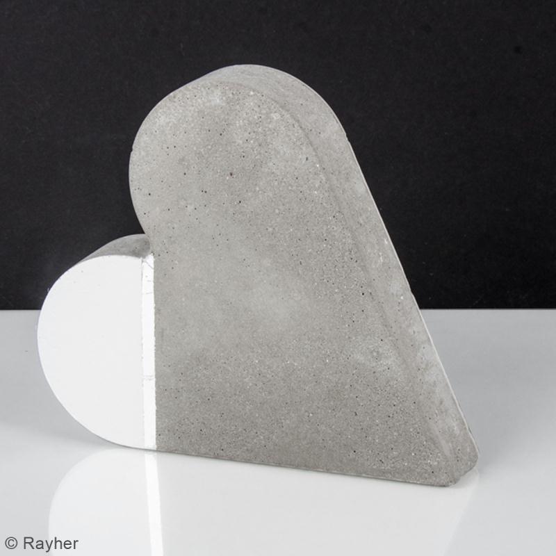 Moule pour béton créatif - Coeur - 6,5 x 6,5 cm - Photo n°2