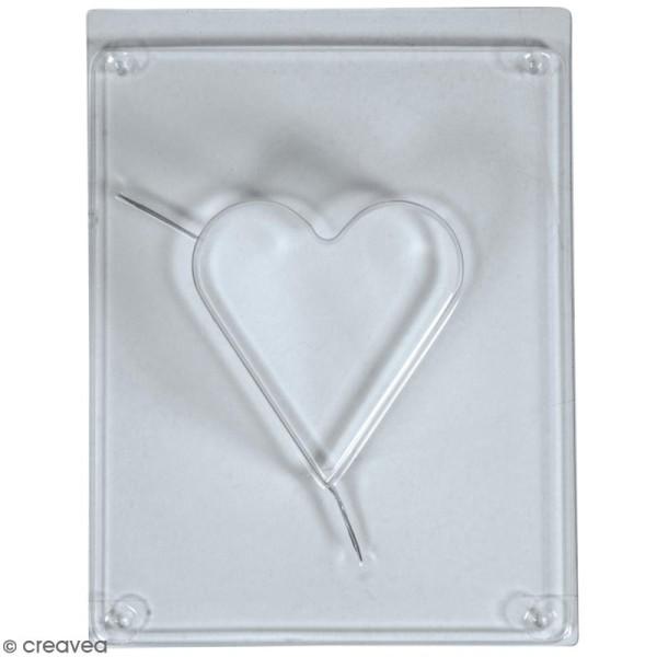 Moule pour béton créatif - Coeur - 6,5 x 6,5 cm - Photo n°1