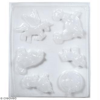 Plaque avec moules multi-usages - Licorne - 6 formes
