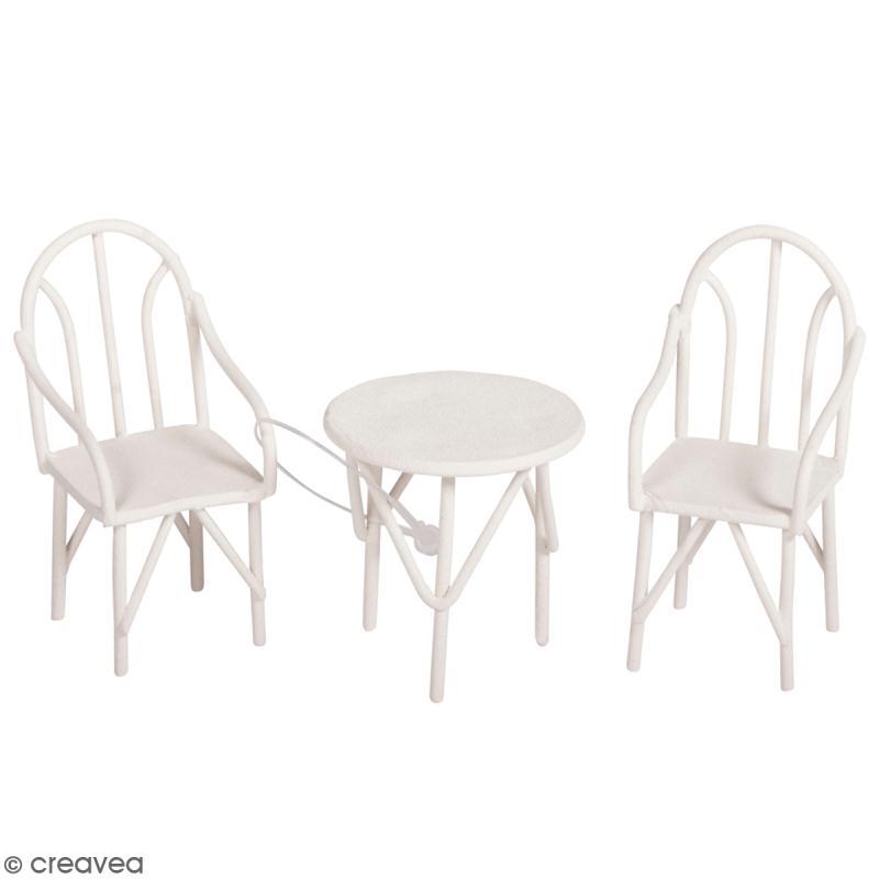 D corations de jardin miniatures petites table et for Decoration jardin en metal
