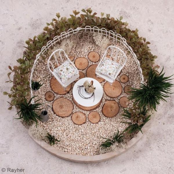 Décorations de jardin miniatures - Petites Table et chaises en métal - 3,5 à 5,5 cm - 3 pcs - Photo n°3
