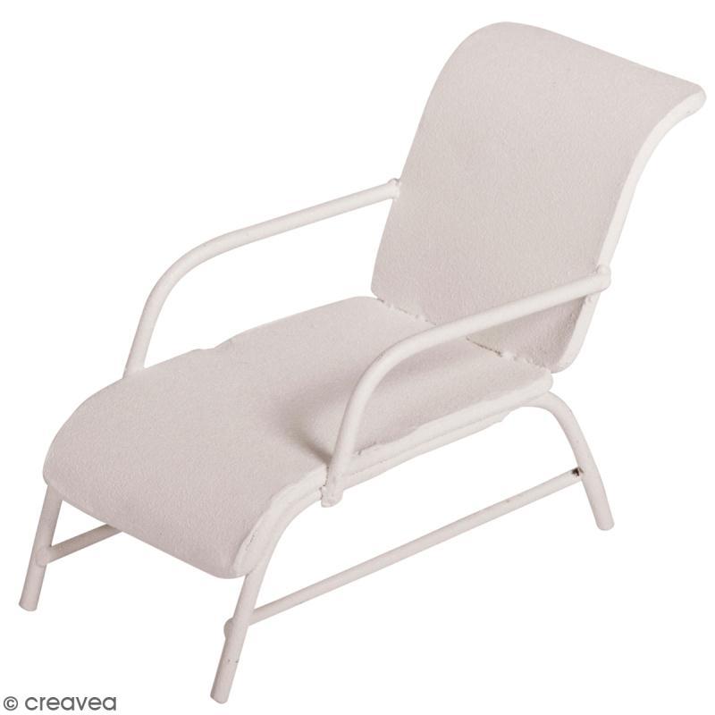 d coration de jardin miniature chaise longue en fer blanc 6 x 3 3 cm miniature d corative. Black Bedroom Furniture Sets. Home Design Ideas