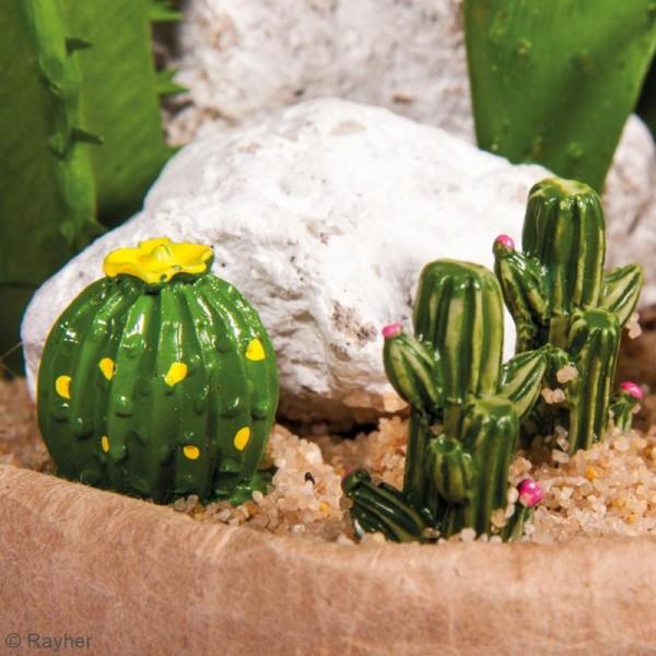 Formes en polyrésine - Cactus - 1,5 x 3 cm - 6 pcs - Photo n°2
