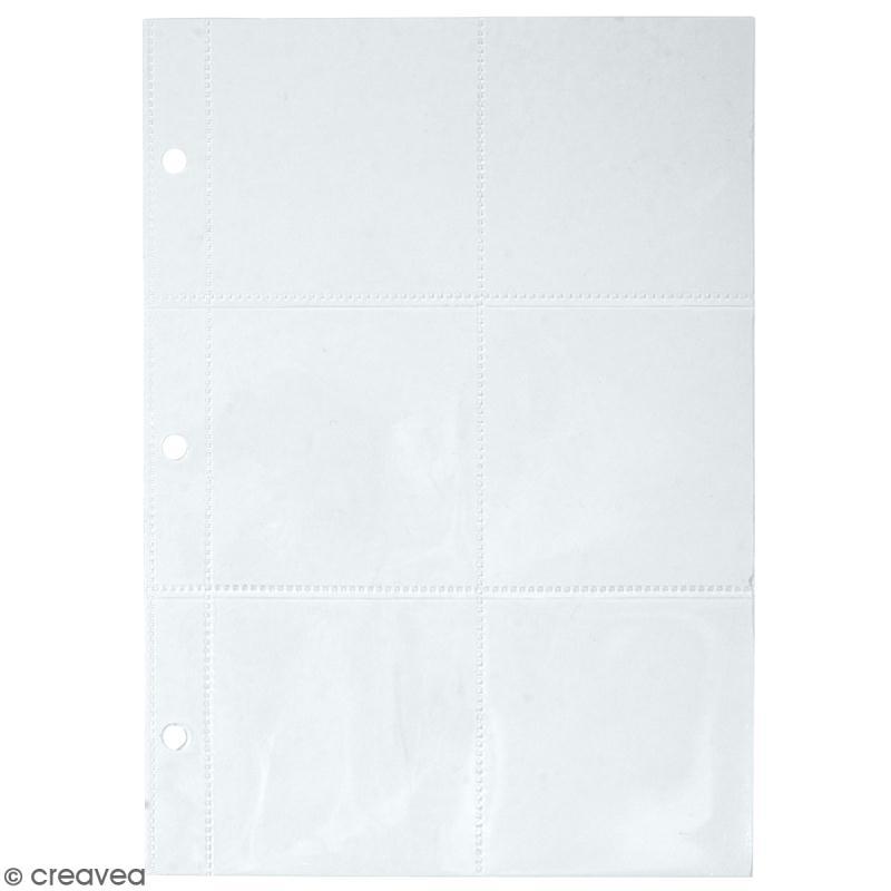 Kit pages My planner notes A5 - Pochette plastique 6 compartiments - 4 pcs - Photo n°1
