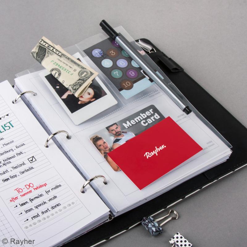 Kit pages My planner notes A5 - Pochette plastique 3 compartiments - 4 pcs - Photo n°2